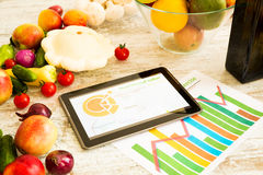 Healthy nutrition and Software guidance Royalty Free Stock Image