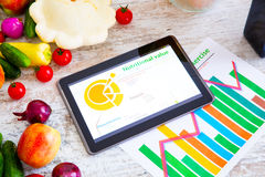 Healthy nutrition and Software guidance Royalty Free Stock Photography