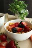 Healthy nutritional breakfast. Healthy Breakfast, Weight Management, Diet Royalty Free Stock Photos