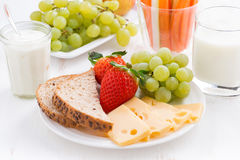 Healthy and nutritious breakfast with fruits and vegetables Stock Images