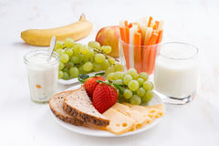Healthy and nutritious breakfast with fruits and vegetables Royalty Free Stock Photo