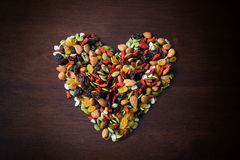 Healthy nuts mix Stock Photo