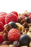 Healthy Nuts and Multiple Berries Royalty Free Stock Photos