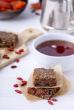 Healthy oat bars Royalty Free Stock Images