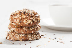 Healthy oat cookies Stock Image