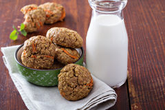 Healthy oatmeal carrot cookies Royalty Free Stock Photos
