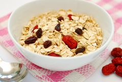 Healthy Oatmeal For Breakfast Royalty Free Stock Image