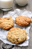 Healthy oats cookies Stock Images