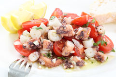 Healthy octopus salad- traditional dish from Portu Royalty Free Stock Photography