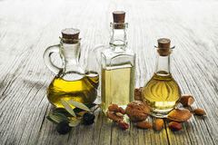 Healthy oils Stock Image