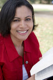 Healthy older African American woman smiling outside. Royalty Free Stock Photography