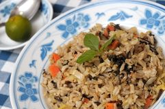 Healthy Olive Fried Rice Royalty Free Stock Image
