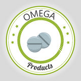 Healthy omega capsules Stock Photo