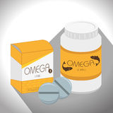 Healthy omega capsules Royalty Free Stock Image