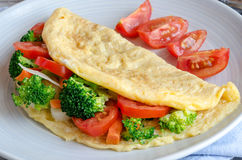 Healthy omelette with vegetables Stock Photo