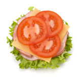 Healthy open sandwich Stock Image