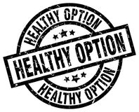 healthy option round grunge stamp Stock Images