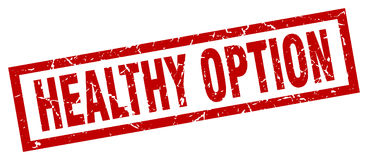 Healthy option stamp Stock Photo