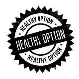 Healthy option stamp Royalty Free Stock Photo