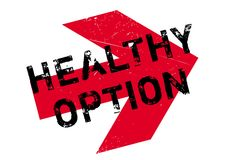 Healthy option stamp Stock Image