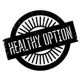 Healthy option stamp Royalty Free Stock Image