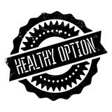 Healthy option stamp Royalty Free Stock Photography