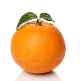 Healthy orange isolated over white Royalty Free Stock Photography