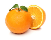 Healthy orange isolated over white Stock Photography