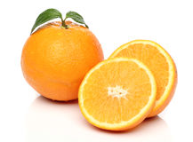 Healthy orange isolated over white Royalty Free Stock Photos