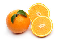 Healthy orange isolated over white Stock Image