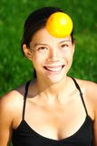 Healthy Orange woman Stock Photo