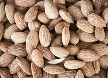 Healthy and organic almonds closeup shoot Stock Image