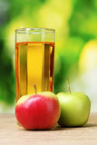 Healthy organic apple juice Stock Photos