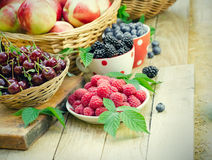 Healthy organic berry fruit for your immune system. For strengthening the immune system - healthy organic berry fruit Royalty Free Stock Photos