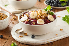 Healthy Organic Berry Smoothie Bowl Royalty Free Stock Photo