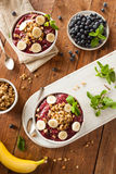 Healthy Organic Berry Smoothie Bowl Royalty Free Stock Photos