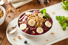 Healthy Organic Berry Smoothie Bowl Royalty Free Stock Image