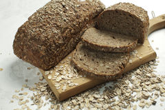 Healthy organic bread Stock Images