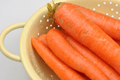 Healthy organic carrot. Clean some fresh and healthy organic carrot stock photography