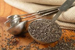 Healthy organic chia seeds Stock Images