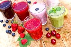 Healthy organic drinks Stock Image