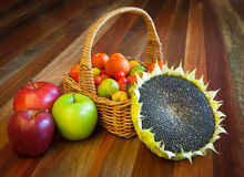 Healthy organic food composition Stock Image