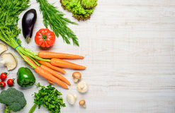 Healthy Organic Food and Copy Space royalty free stock image