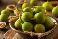 Healthy Organic Green Figs Stock Photo