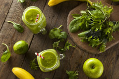 Healthy Organic Green Fruit Smoothie Royalty Free Stock Image