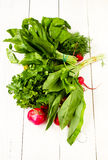 Healthy organic heap of fresh colorful vegetables Royalty Free Stock Image