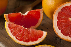 Healthy Organic Red Ruby Grapefruit Stock Images
