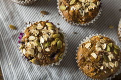 Healthy Organic Seed and Blueberry Muffins Stock Image