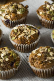 Healthy Organic Seed and Blueberry Muffins Royalty Free Stock Photos