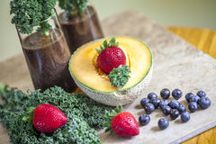 Healthy organic smoothie. Royalty Free Stock Photo